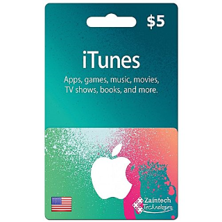 $5.00 iTunes USA INSTANT Delivery