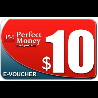 $10.00 e-voucher PERFECT MONEY Instant Delivery