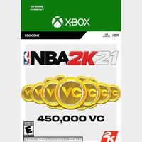 NBA 2K21 - 450 000 VC - XBOX ONE - INSTANT DELIVERY - US ONLY